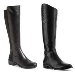 Tahari Rupert Leather Riding Boots 8.5M